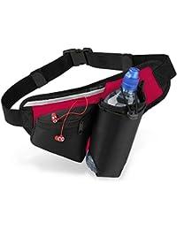 Quadra - sac banane - ceinture - running - hydratation porte-bouteille - QS20 - noir / rouge