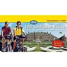 100 Schlösser Route, Kompakt-Spiralo, Radwanderkarte 1:75.000