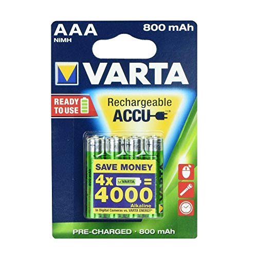 ALPEXE 68118 Rechargeable Batteries Varta R3 800 Mah 3+1 Ready 2 Use Multicolo