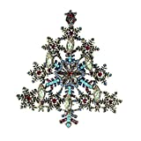Leisial Brosche Schneeflocke Brooch Weihnachtsbrosche Corsage Kleidung Dekoration Broschen Geschenk für Mädchen, Damen,Kind 9 * 7.9cm