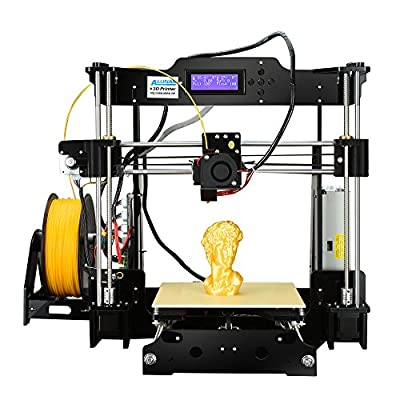 ALUNAR Upgraded High Resolution Desktop 3D Printer Self Assembly DIY Prusa i3 3D Printer Kit Reprap 3D Printing ( EU Plug )