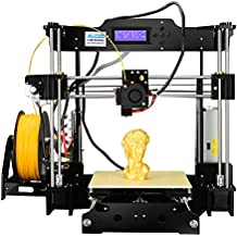 ALUNAR Impresora 3D de escritorio actualizada Self Assembly DIY Reprap Prusa i3 Kit de impresora 3D Printing with Accesorio de Filamento de Impresión PLA de 1.75MM