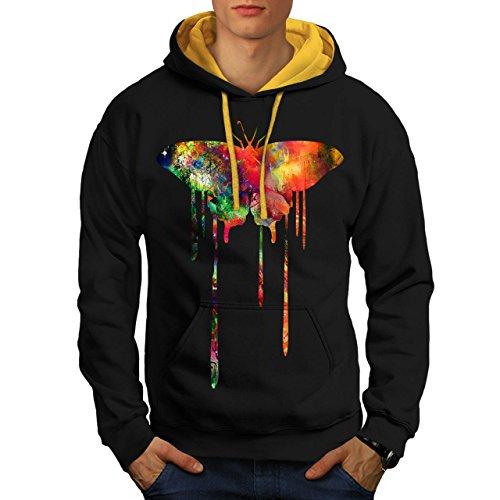 artistique-papillon-couleur-charme-homme-nouveau-noir-avec-capuche-dore-l-capuchon-contraste-wellcod