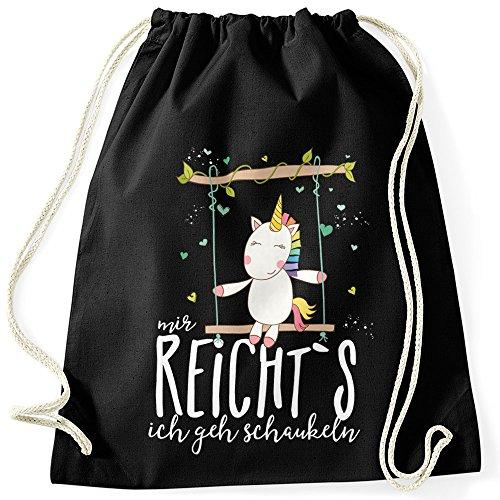 MoonWorks Turnbeutel Einhorn Unicorn Mir Reichts Ich Geh Schaukeln Sprüche Spruch Hipster Beutel...