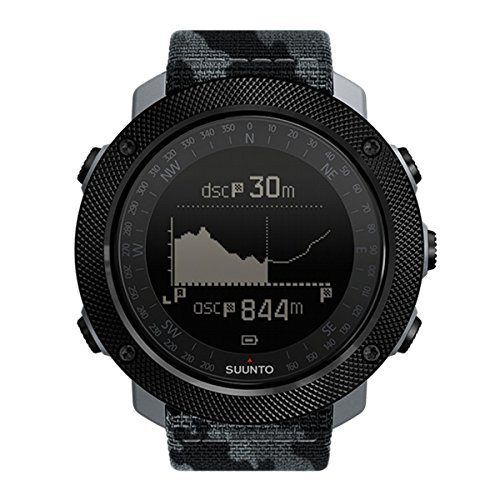 Suunto Traverse Alpha Concrete Sports Watch, Camouflage Urban Jungle (Schwarz), Uni