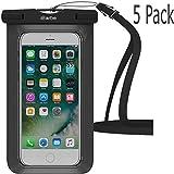 Wasserdichte Schutzhülle, ibarbe Dry Bag Pouch Underwater Cover für Apple iPhone X iPhone 8iPhone 8Plus iPhone X iPhone 77Plus 6S 66S Plus SE 5S 5C Galaxy S8S8Plus S7S6Edge, 5 Pack Black