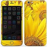 Apple iPhone 6 Case Skin Sticker aus Vinyl-Folie Aufkleber Sonnenblumen Blüte Gelb