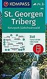 St. Georgen, Triberg, Naturpark Südschwarzwald: 3in1 Wanderkarte 1:25000 mit Aktiv Guide inklusive Karte zur offline Verwendung in der KOMPASS-App. ... Langlaufen. (KOMPASS-Wanderkarten, Band 885)