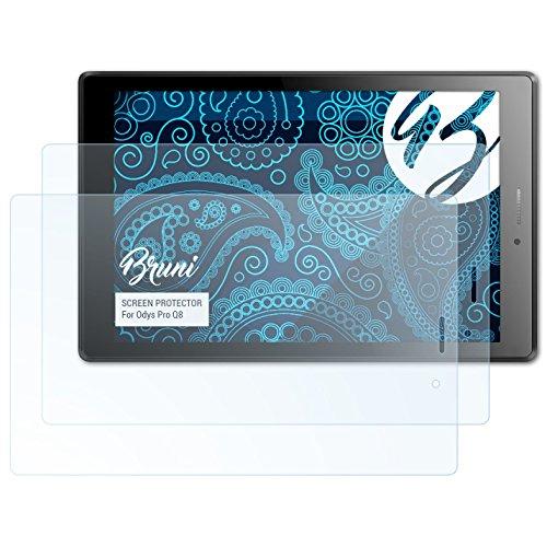 Bruni Schutzfolie kompatibel mit Odys Pro Q8 Folie, glasklare Bildschirmschutzfolie (2X)