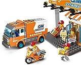 YeoMark City Express Station Jeu de Construction pour Camion de Transport et Moto...