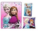 Trendstern Trendprodukteshop Frozen Disney Eiskönigin Decke 120 x 140 cm + Kissen 40 x 40 cm + 4 TLG. Frozen Schreibset