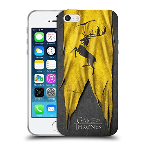 Offizielle HBO Game Of Thrones Lannister Sigil Flags Soft Gel Hülle für Apple iPhone 6 / 6s Baratheon