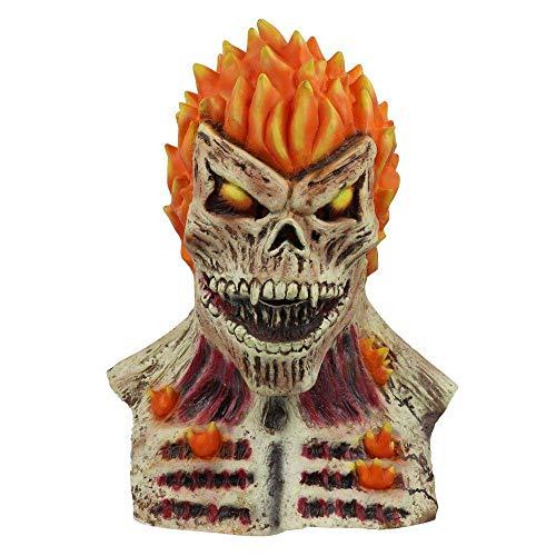 Ghost Kostüm Rider Maske - JNKDSGF HorrormaskePunisher Ghost Rider Halloween Maske CosplayVollkopf Latex Maske Erwachsene Feuer Schädel Scary Halloween Party Maske