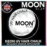 Moon Glow - Tiza para cabello UV de neón3.5g Blanca-produce un brillo increíble bajo la iluminación/retroiluminación UV!