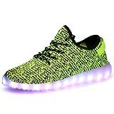 Aidonger Unisex Turnschuhe Licht Luminous 7 Farbe USB Lade Outdoor Leichtathletik Beiläufige Schuhe Sneaker (EU 40=260mm, Grün)