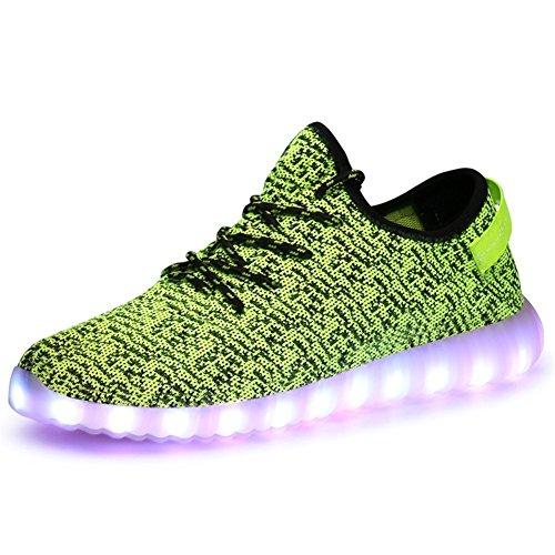 Aidonger Unisex Turnschuhe Licht Luminous 7 Farbe USB Lade Outdoor Leichtathletik Beiläufige Schuhe Sneaker (EU 40=260mm, ()