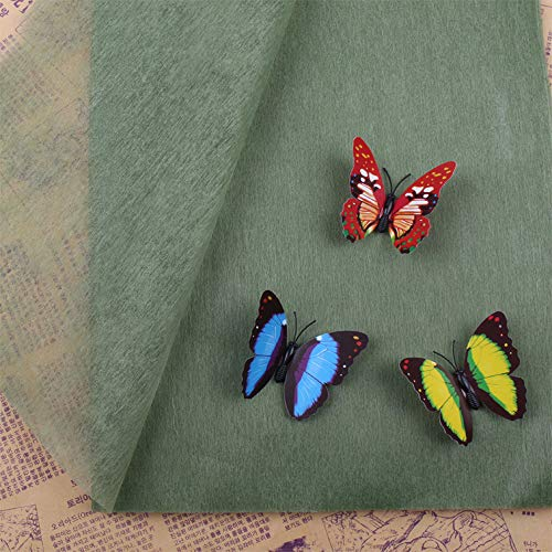 LAIYYI 38-40 Blätter/Pack Handgemachtes Geschenkpapier für Blumen-Baumwollgeschenk-Geschenkpapier ohne Schmetterling 50 * ()
