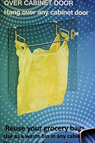 SystemsEleven Grocery Trash Bag Bin Holder Hangs over Cabinet Door Handles Holds Up To 10kg