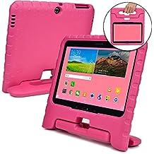Funda Infantil Cooper Cases (TM) Dynamo para Samsung Galaxy Tab 4 10.1 & 3 10.1 en Rosa + Protector de Pantalla gratuito (Ligera, absorción de impactos, Espuma EVA segura para los niños, Asa incorporada, y soporte para visionado)