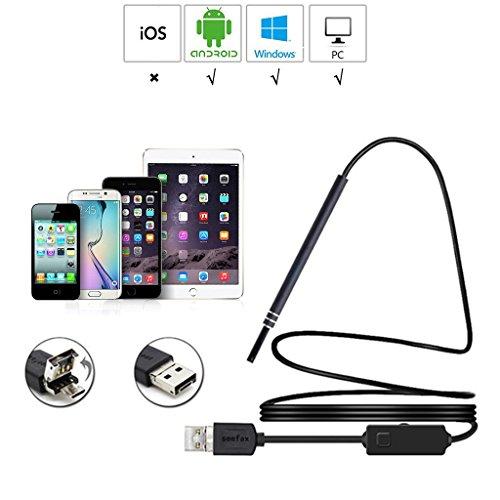 DZQ Ohrlöffel Endoskop USB-Endoskop-Erkennungskamera 30 Megapixel für Android Smartphone