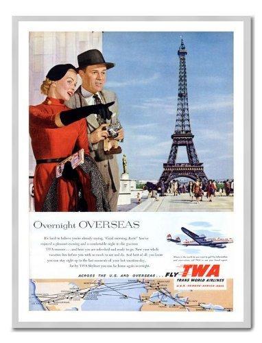 twa-paris-1950er-air-travel-memo-board-magnet-silver-gerahmt-41-x-31-cms-ca-406-x-305-cm