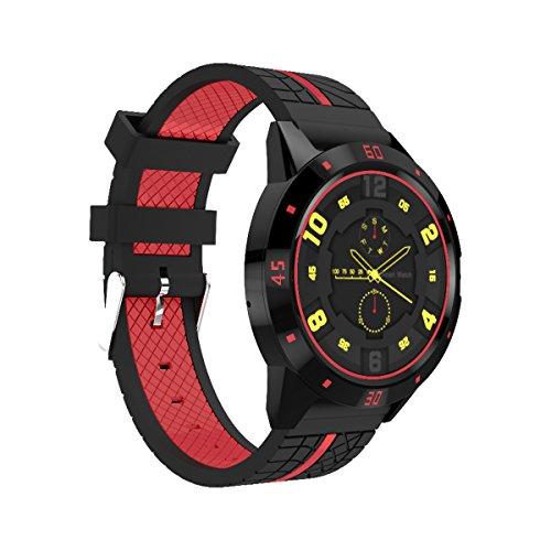 DIGGRO DI02 - Smartwatch mit Herzfrequenz Sensor (Uhr, Bluetooth4.0, Armbanduhr, NFC, Bluetooth Telefon, Pulsmesser Aktivitätstracker Schrittzähler Schlafanalyse Kalorienzähler für ios Android) …