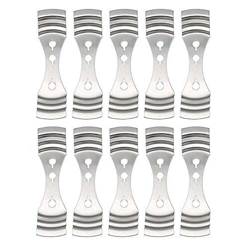 10 Stück Metall Kerze leitet Halter Zentrierung Gerät,Bend Metall Kerze Docht Zentrierung Gerät,Metallkerzendochte Halter Zentriervorrichtung,für Kerzenherstellung