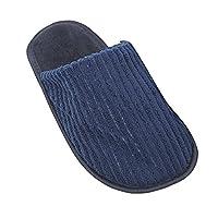 Mens Plain Soft Slip-On Indoor Footwear/Slippers (UK Shoe 11, EUR 46) (Navy)