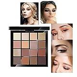 Lidschatten| Make-up Paletten| Glitzer für die Augen | WINWINTOM Neue 16 Farben kosmetische Augenschminke Creme Lidschatten Make-up Palette Set Make-up