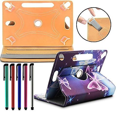 LOLO® ASUS Nexus 7 (2013) Tablet PC Étui de universel, support, étuis de ceinture en cuir synthétique, 360 Degrés de rotation Tablet PC Case Cover Folio - Papillon électrique