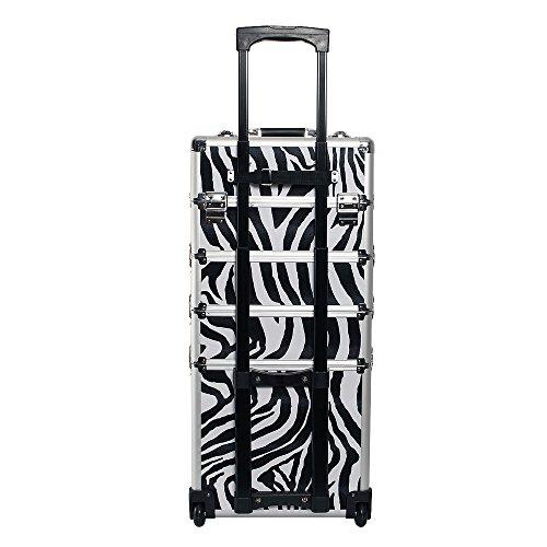 Kosmetikkoffer Trolley in XXL – Zebra - 3