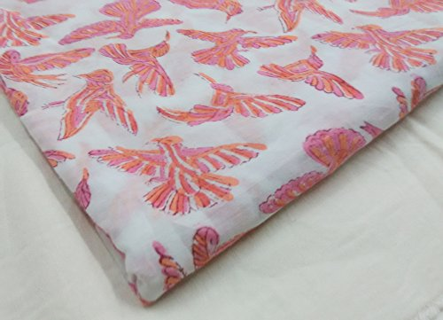 handicraftofpinkcity Hawaiian Block Print Tapa Tropical Baumwolle Dobby Quilt Stoff-Braun 5Meter -