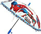 #7: Super Hero Print Umbrella for Small Boys Kid up to Age 10 Years Approx 24 inch Long ( Multicolor )