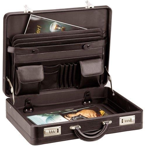 D&N Tradition Business Aktenkoffer mit vielseitiger Inneneinteilung 46 cm braun