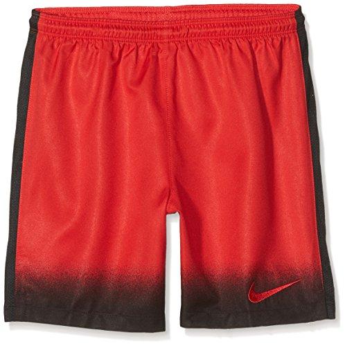 Nike Yth Laser Wvn PR Shrt NB-Pantaloncini Corti da Calcio, per Bambini, Bambino, Rosso/Nero