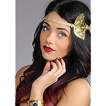 Womens hoja de oro romano diadema