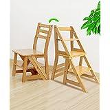 zengai escalera madera taburete escalera de madera escaleras de madera maciza silla de casa escalera silla