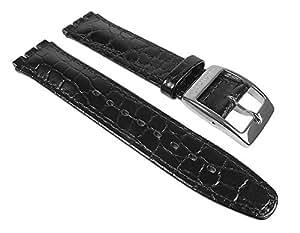 Swatch AYAS100-Band - Bracelet pour montre, cuir, couleur: noir