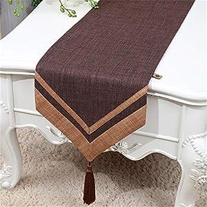 Corredores de mesa Bañador de algodón Bufanda Rectangular Mesa Runner Decoración con estampado floral Borla Diseño Mesa…
