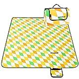 Homemaxs Extra Große Picknickdecke 200x200 cm Wasserdicht und Tragbar Faltbare