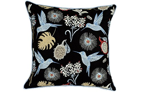 Gary S.Shop Flying Birds and Small Flowers01 Home Decor Pillow Case 18 x 18 Inch (Flying Birds Home Decor)