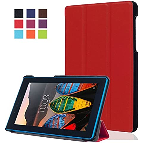Lenovo Tablet3-710F Funda, iBetter Lenovo Tablet3-710F Estuches Fundas cubierta de cuero Carcasa para Lenovo Tablet3-710F/Lenovo Tab 3 A7-10 Tablet-