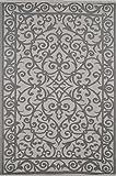 Grün Deko-Gala Indoor Outdoor/Gewicht/Reversible/Polypropylen Kunststoff Teppich, Plastik, Taupe Grey/Buttercream, 90 x 150 cm