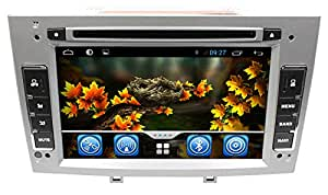 "lsqSTAR PEUGEOT 308/408 7"" écran Tactile DVD IPOD Bluetooth Radio USB AUX IN WIFI GPS Navigation Android 4.4, Gratuit Carte"