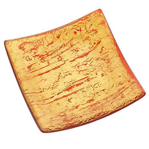 GlassOfVenice Carrée Assiette décorative - Rouge Rubis