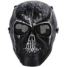 SODIAL (R)Masque Protection Visage Crane Squelette Noir Airsoft BB Fusil  Armee 789401930f10