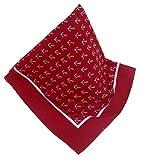 Rotes Nickituch mit Ankern | Kopftuch mit maritimen Muster | Bandana aus 100% Baumwolle | Halstuch 53 x 53 cm | Teichmann