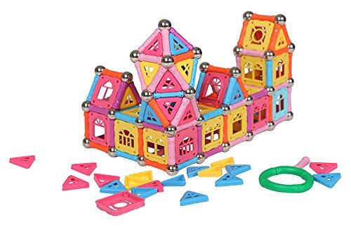 Pädagogisches magnetisches Baustein Spielzeug, magnetische Stöcke Fliesen Bausteine 3D Pädagogisches Spielzeug Set für Kinder - Magenesis®