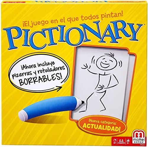 Pictionary es un divertido juego en el que tendrás que exprimir tu imaginación e ingenio para conseguir comunicarte a través de los dibujos. En este juego tus compañeros tienen que adivinar palabras o frases a partir de los dibujos que hagas en la pi...