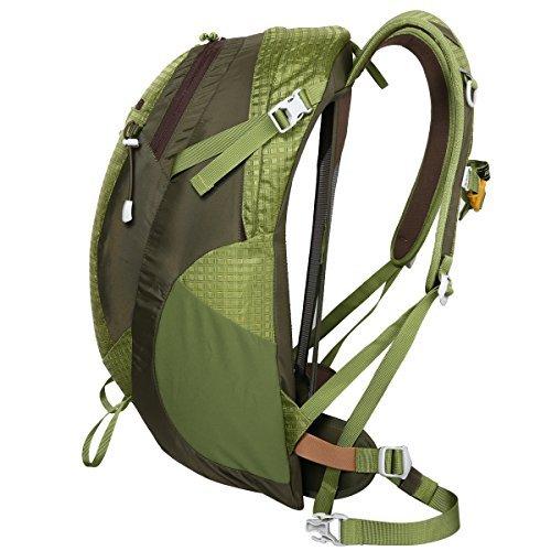 Eshow 30L Unisex Borsa Spotiva Leggera in Nylon Resistente all'acqua con Grande Capacità per Outdoor Escursionismo Zaino da Viaggio o Trekking(nero) verde 1